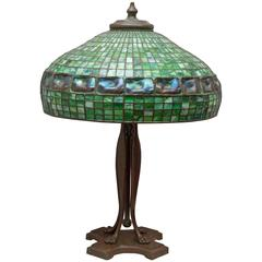 Tiffany Studios Turtle Back Tile Table Lamp