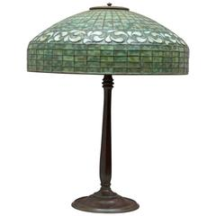 Tiffany Studios Swirling Leaf Table Lamp