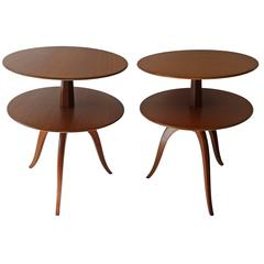Pair of Side Tables by Paul Frankl for Brown Saltman