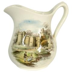 Royal Staffordshire England Country Castle and Couple Scene Pitcher
