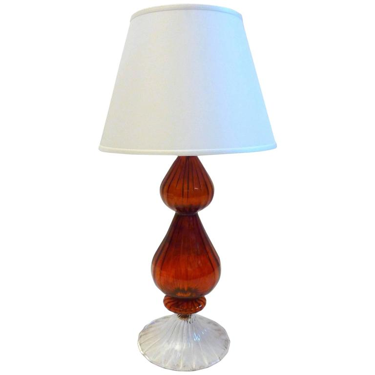 Murano Glass Table Lamp Italy