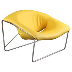 Yellow Cubique Chair by Olivier Mourgue for Airborne International