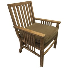 Handsome Cerused Oak French Armchair
