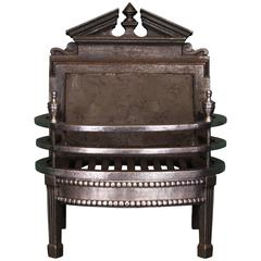 Small 19th Century Wrought and Cast Fireplace, Fire Grate
