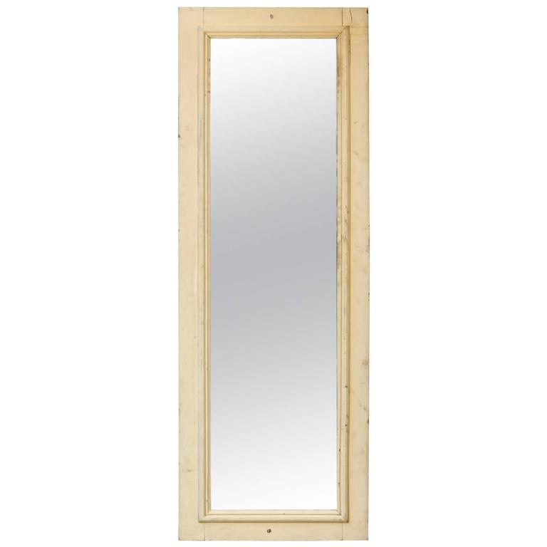 Floor standing framed mirror at 1stdibs for Framed floor mirror