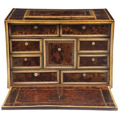 17th Century Indo-Portuguese Tortoiseshell and Bone Cabinet