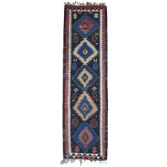 Antique Shahsavan Kilim, Wide Runner