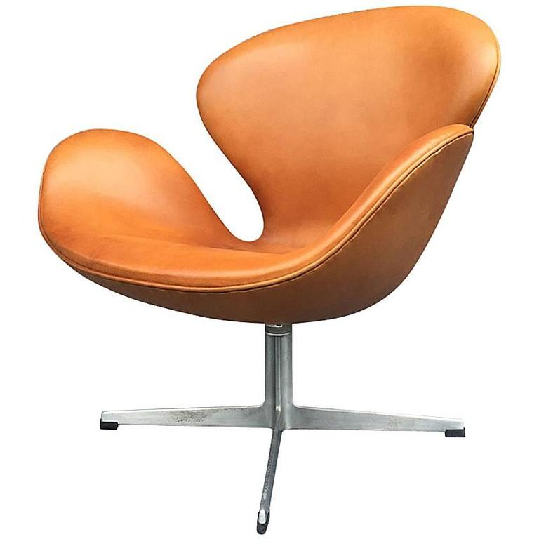 Prime Cognac Leather Swan Chair By Arne Jacobsen For Fritz Hansen Evergreenethics Interior Chair Design Evergreenethicsorg