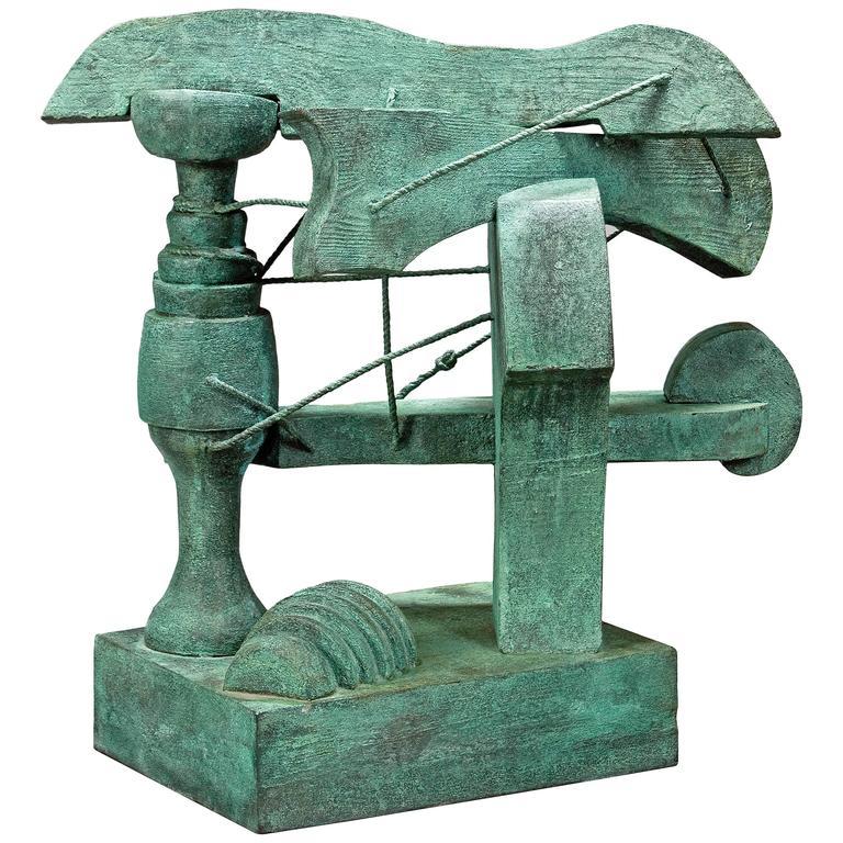 Robert Jacobsen, A Danish Untitled Patinated Bronze Sculpture