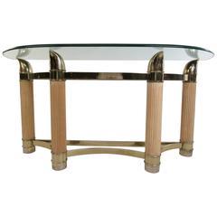 Vintage Modern Demilune Console Table