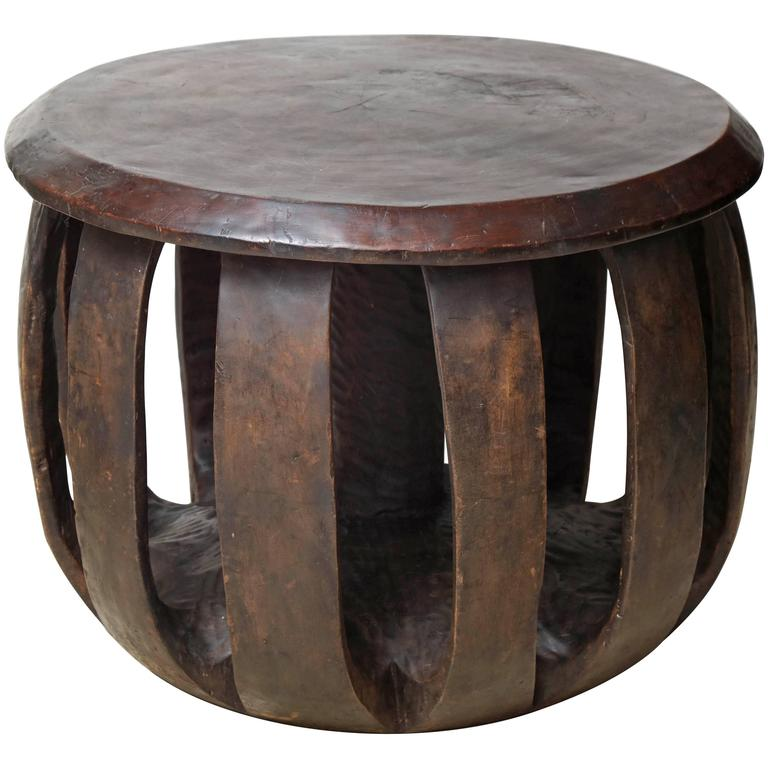 Circular african table for sale at 1stdibs African coffee tables