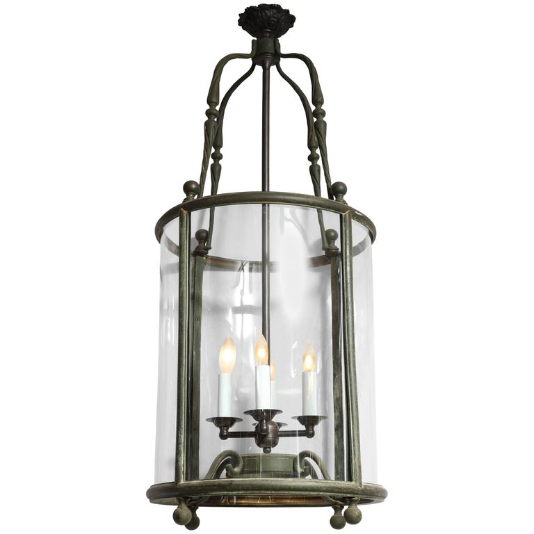 19th Century Cylindrical Lantern For Sale