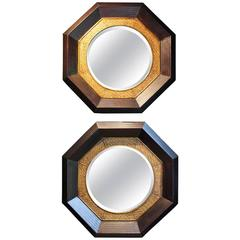 Pair of Rattan Mirrors