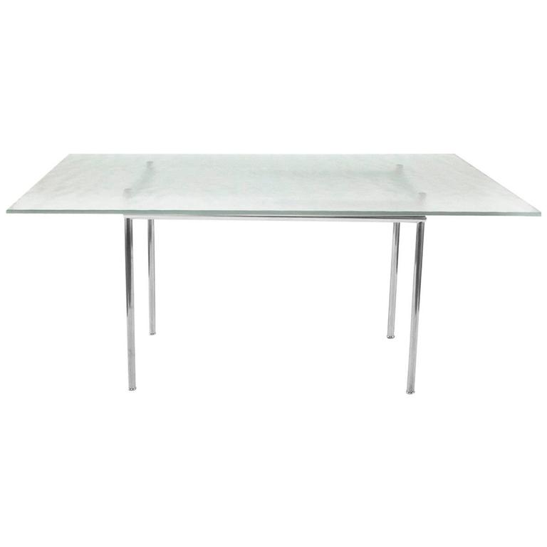 Cassina Glass Top LC12 Dining Table By Le Corbusier, Modern, Italy At  1stdibs