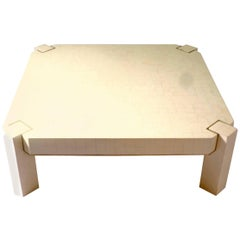 Square Coffee Table in Warthog Tooth, circa 1970