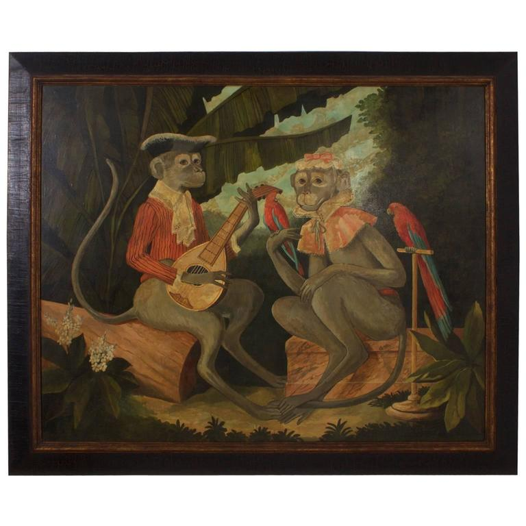 Painting of Two Monkeys by William Skilling