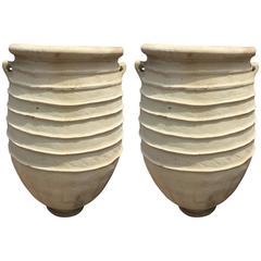 Pair of Massive Ceramic Terracotta Jar