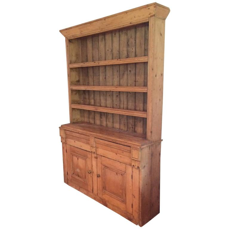 Truly Special Old Pine Hutch Cupboard For Sale