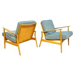 Pair of Ib Kofod-Larsen Spear Lounge Chairs