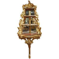 18th Century Italian Giltwood Corner Console