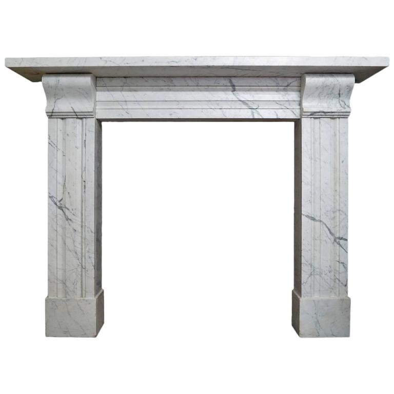 Antique Late Regency Marble Fireplace Mantel For Sale