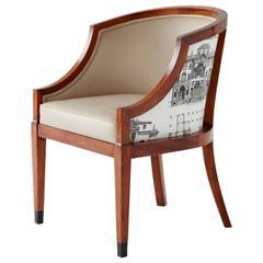 Thomas Hope Club Chair with Ebony Caps