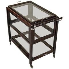 Art Nouveau Vienna Serving Trolley Beechwood Mahogany Stained, circa 1915