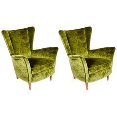 Pair of Italian Vintage Armchairs