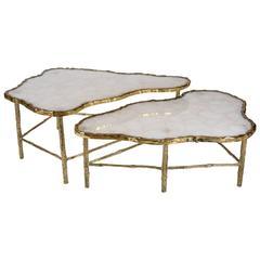 Pair of Rock Crystal Coffee Tables