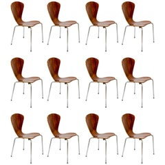 Set of 12 vintage chairs at cost price.