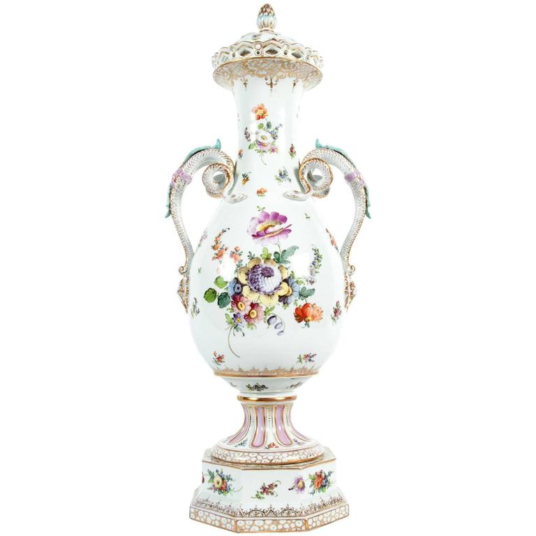 Antique tall porcelain vase decorative piece for sale at for Antique decoration pieces