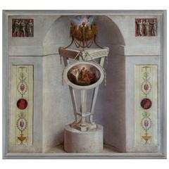 George III Trompe L'Oeil Chimney Board