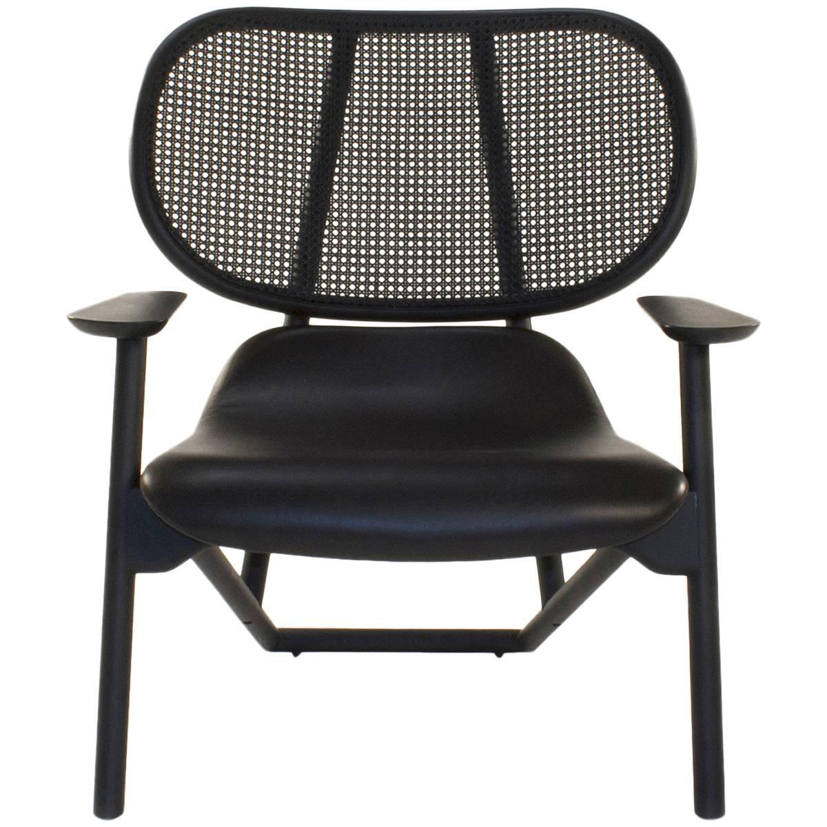 moroso black klara lounge armchair by patricia urquiola italy for sale at 1stdibs. Black Bedroom Furniture Sets. Home Design Ideas