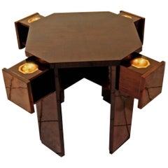 Art Nouveau Vienna Elegant Game Table Rosewood Veneer, circa 1900