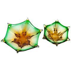 Mid-Century Art Deco Murano Glass Decorative Pieces