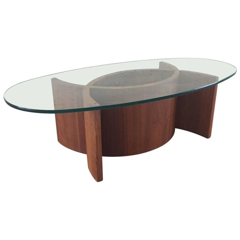 Sculptural Walnut Coffee Table Style Of Vladimir Kagan For Sale At 1stdibs