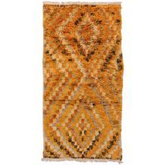"""Vintage Anatolian Shag Pile """"Tulu"""" Rug"""