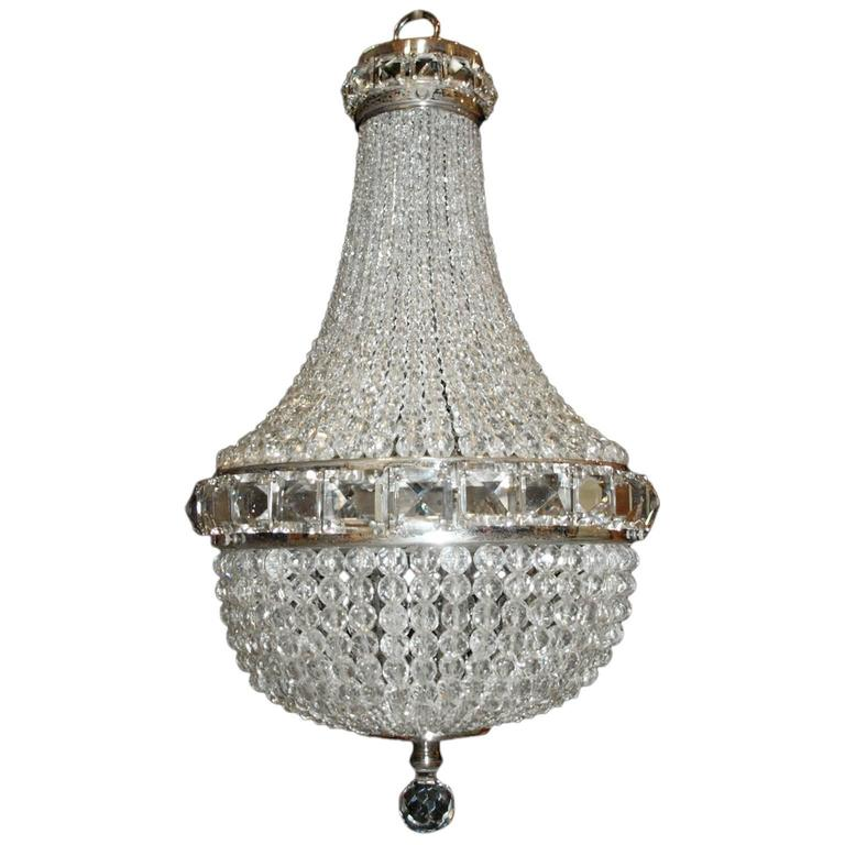 Antique Chandelier, Basket Chandelier For Sale