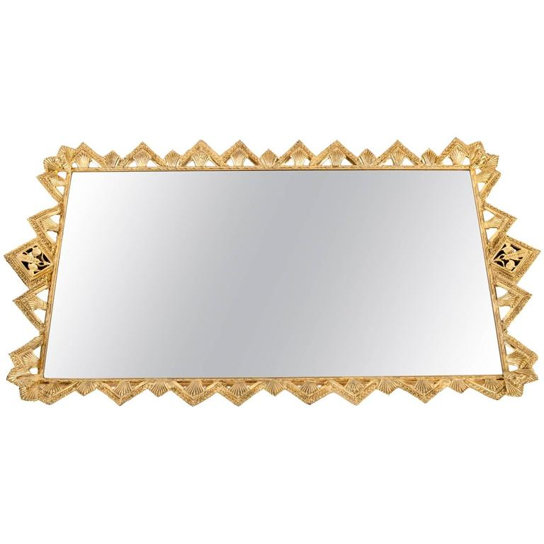 Vintage gilded decorative vanity mirrored tray at 1stdibs for Decorative bathroom tray