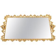 Vintage Gilded Decorative Vanity Mirrored Tray