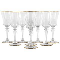 Vintage Set of Ten Baccarat Glassware