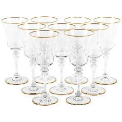 Vintage Set of Nine Baccarat Glassware