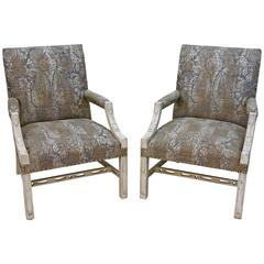 Vintage Carlyle Hotel Library Federal Armchairs (Pair)