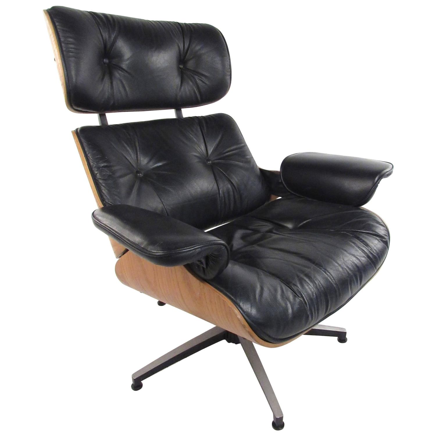 vintage modern eames style swivel lounge chair for sale at 1stdibs