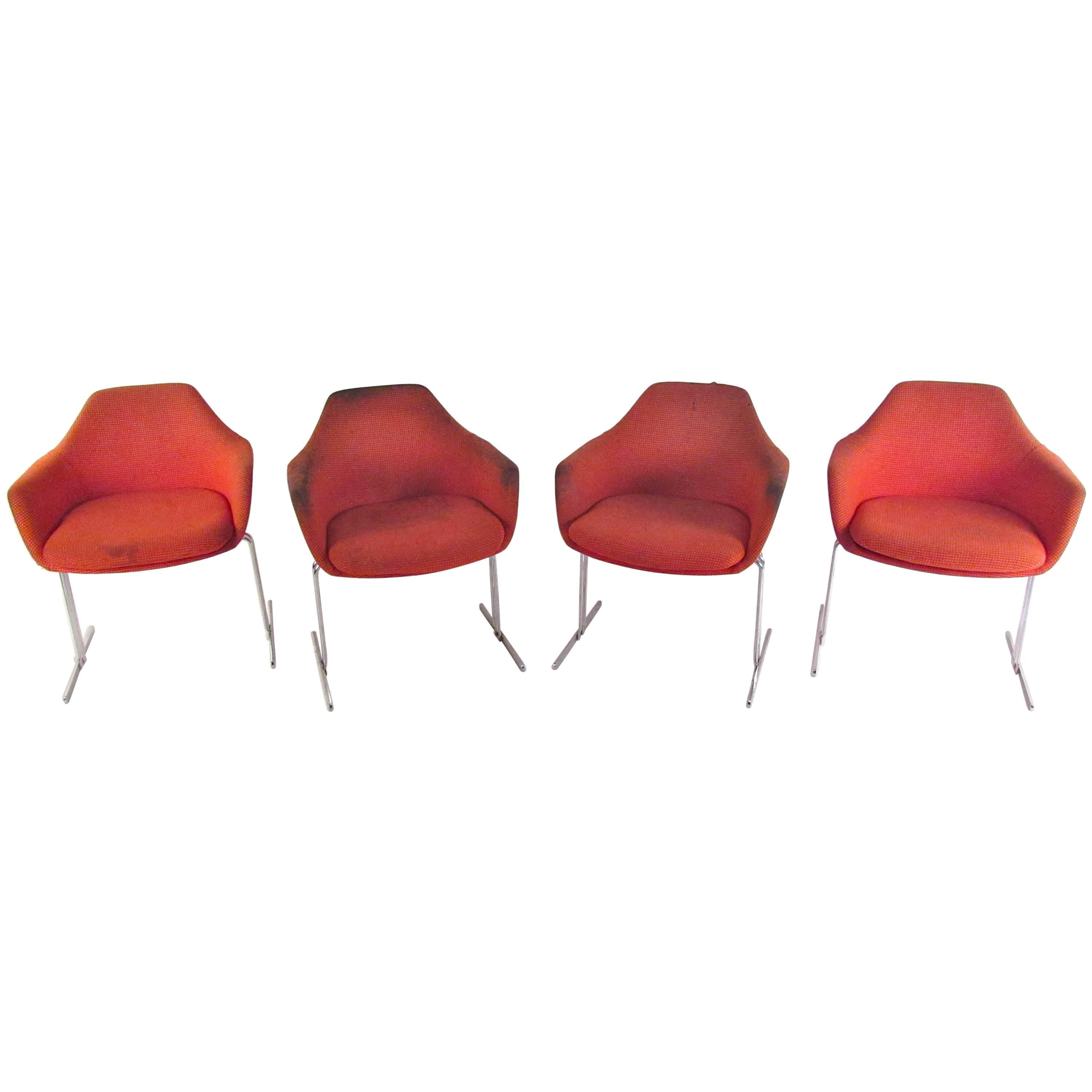 Set of Vintage Knoll Style Conference Chairs