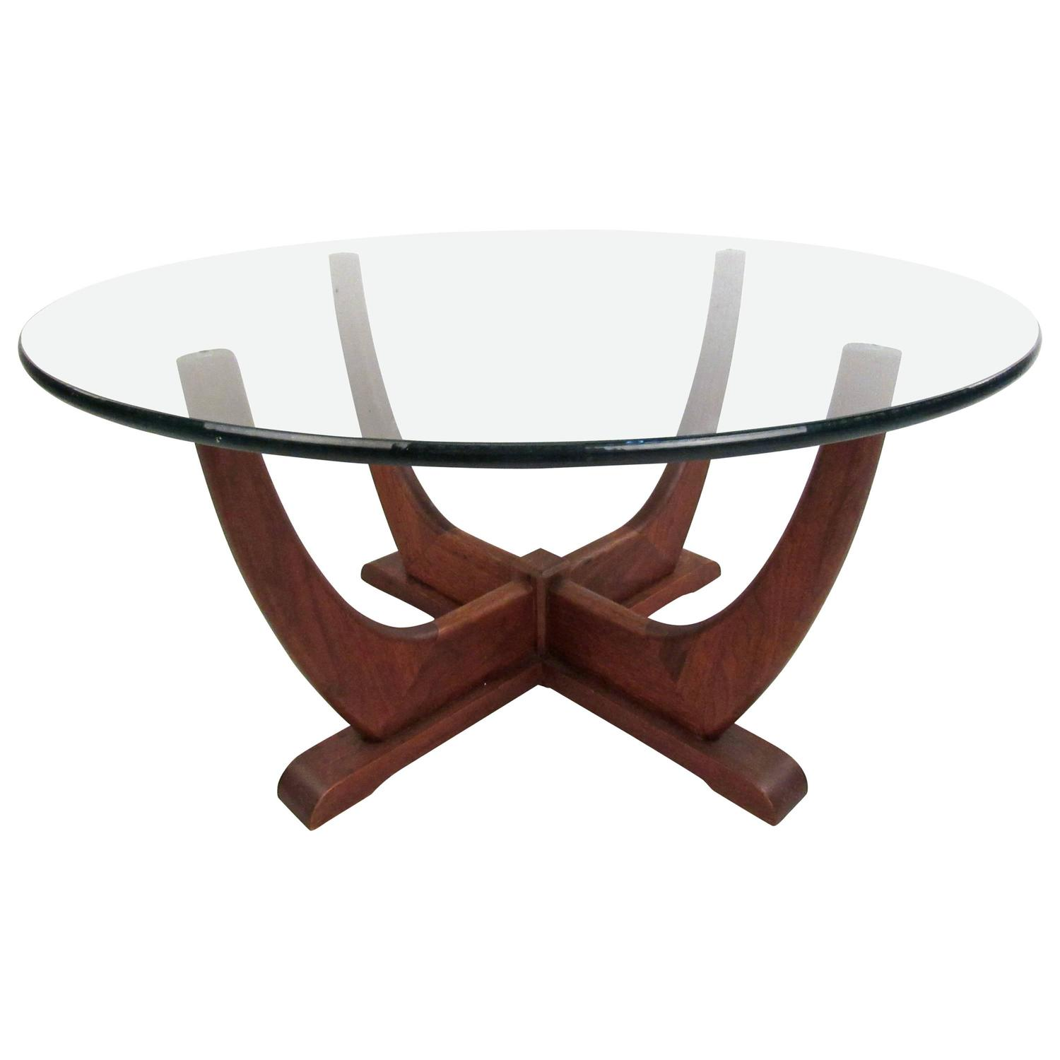 Neptune Cocktail Table Mid-Century Adrian Pearsall Style Round End Table For Sale at 1stdibs