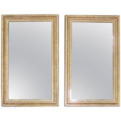 19th Century Gold Gilt Decorative Frame Rectangular Wall Mirror, France