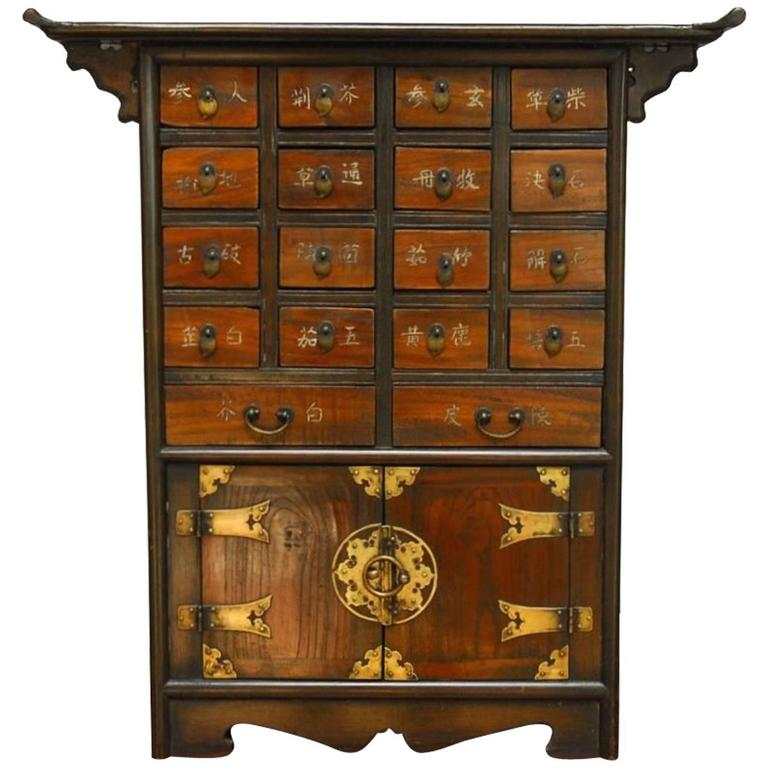 Beau Chinese Medicine Apothecary Cabinet For Sale