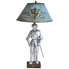 Charming Tole Knight Lamp