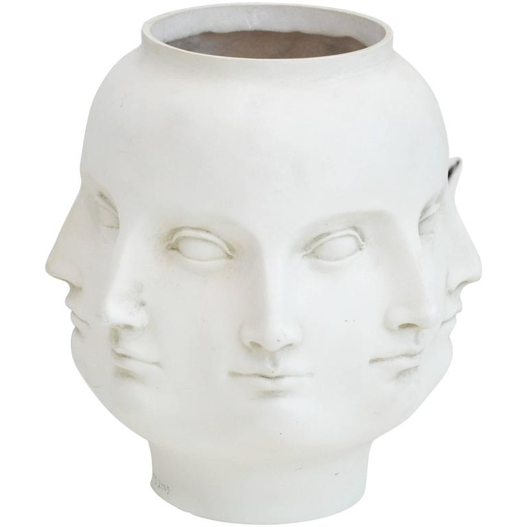 Modern Ceramic Face Vase At 1stdibs